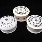 SALE Three Infant Bottle Feeder Caps ~ 1870 ~ 1890