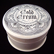 SALE English Circular Scrolls COLD CREAM Pot 1880