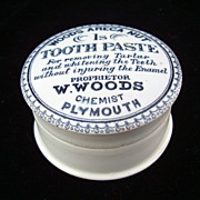 SALE English &quot;Quack Medicine&quot; Tooth Paste Pot and Lid 1890