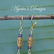 Amethyst 14 K Gold Filled 22 K Vermeil Gold Earrings