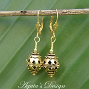 14 K Gold Filled & 22 K Gold Vermeil Earrings
