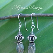 Kyanite Swarovski Crystals Sterling Silver Earrings