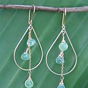 Prehnite 14 K Gold Filled Earrings