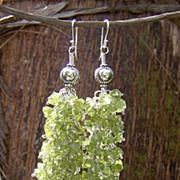 Peridot Sterling Silver Dangle Earrings