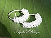 Sterling Silver ~ Swarovski Crystals ~ Hoop Earrings
