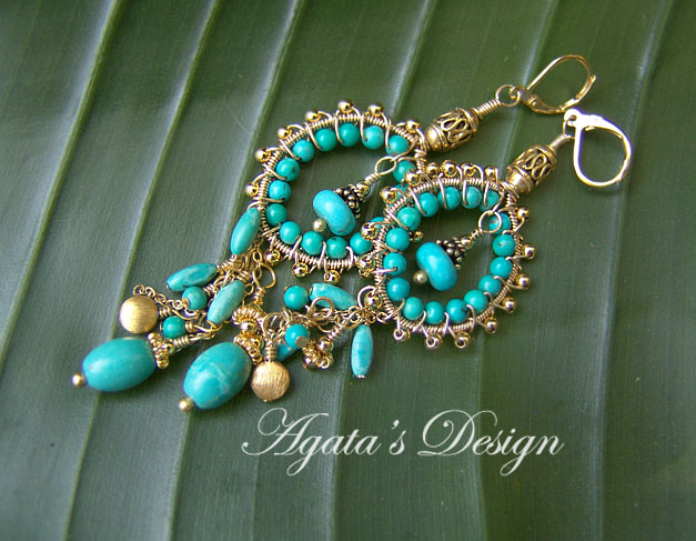 Turquoise Gold Filled Earrings