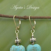 Turquoise Hearts Sterling Silver Earrings