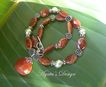 Fire Agate ~ Carnelian ~ Sterling Silver ~ Necklace
