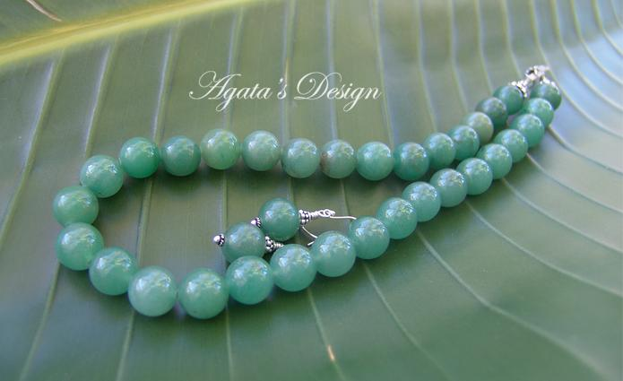 Green Aventurine Sterling Silver Necklace and Earrings