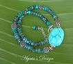Turquoise Stones ~ Sterling Silver ~ Necklace