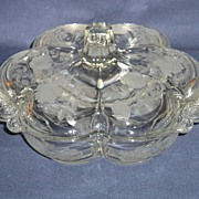 Duncan Miller or Tiffin Canterbury 3-Part Candy with a Rose Etching