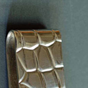 Tiffany Sterling Silver Alligator Pattern Money Clip