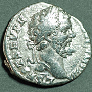 Roman Silver Coin. SEPT. SEVERUS. Den. Securitas