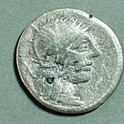 Roman Silver Coin. PORCIA 1. AR Den.