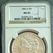 1885 Morgan Silver Dollar Graded MS65 by NGC
