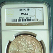1885 O Morgan Silver Dollar Graded MS65 by NGC