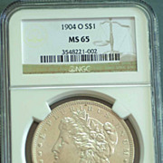 1904 O Morgan Silver Dollar Graded MS65 by NGC