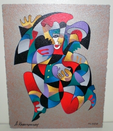 Embrace by Anatole Krasnyansky hand signed art, ltd ed serigraph