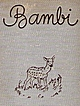 SALE Bambi by Felix Salten  Vintage 1931 Illustrated European Literature