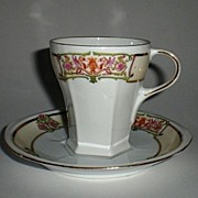 SALE Antique Moritz Zdekauer MZ Austria cup and saucer Set - Altrohlau, Germany ca 1884 - 1909