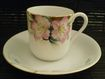 SALE Noritake Azalea Demitasse Cup & Saucer Set, vintage hand painted flowers with real gold
