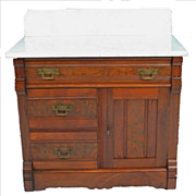 Eastlake Commode with Marble Top