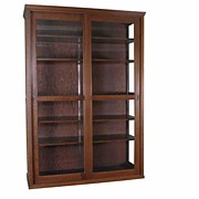 Mission Two Door Oak Showcase