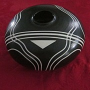 Hutchfield Black and White Art Pottery Vase