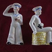 Pair Erphila Czechoslovakia Sailor Figurines