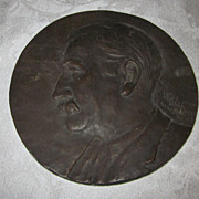 Bronze Plaque of Dr. George Johnson by Listed Artist Will LaFavor