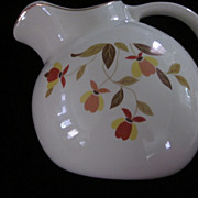 Hall's Pottery Autumn Leaf Ball Water Pitcher