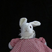 Rabbit/Bear Vintage Topsy Turvy Plush Doll