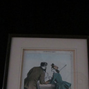Martinet Hand Colored Lithograph, Woman With Shotgun, 1892