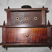 Early Victorian Walnut Sewing Box/Thread Holder