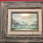 "Harland Young Seascape, 4 1/2"" X 6 1/2"""