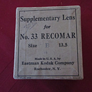 Eastman Kodak Supplementary Lens for #33 Recomar, in Box