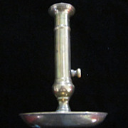 19th Century Brass Push Up Candle Holder