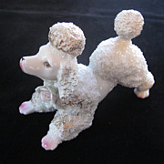 White, Gold, Pink Playful Spaghetti Poodle, Victoria, Japan, 6 1/4&quot;