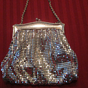 Whiting & Davis Silver Mesh Purse