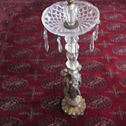 Hollywood Regency Glass and Brass, 3 Graces,  Floor Stand