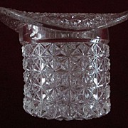 Victorian Finecut Clear Top Hat w Band Toothpick Holder