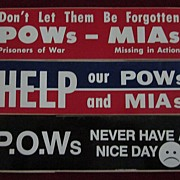 Set of 3 Vietnam POW Bumper Stickers