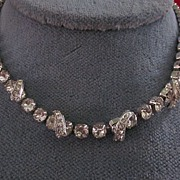 Eisenberg Crystal Rhinestone Adjustable Length Necklace