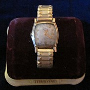1930's Bulova Art Deco Gold Filled Men's Watch w/ Orig. Velvet Box