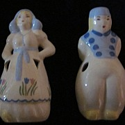 Dutch Couple Ceramic Figurines