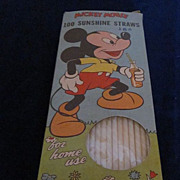 Mickey Mouse 100 Sunshine Straws in Original Box