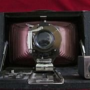 Kodak 3-A Folding Brownie Camera with Red Bellows