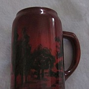 Lenox Belleek Brown and Black Tankard
