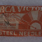 RCA Victor Full Tone Steel Needles -Open Package