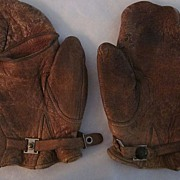 Leather Hunter's Mittens with Trigger Finger Cover